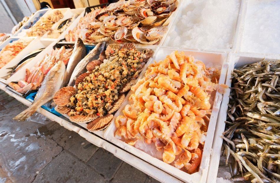 Helsinki Market Square - fish dishes