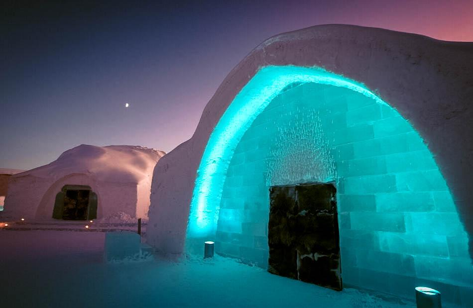 Ice hotel in Lapland, Finland