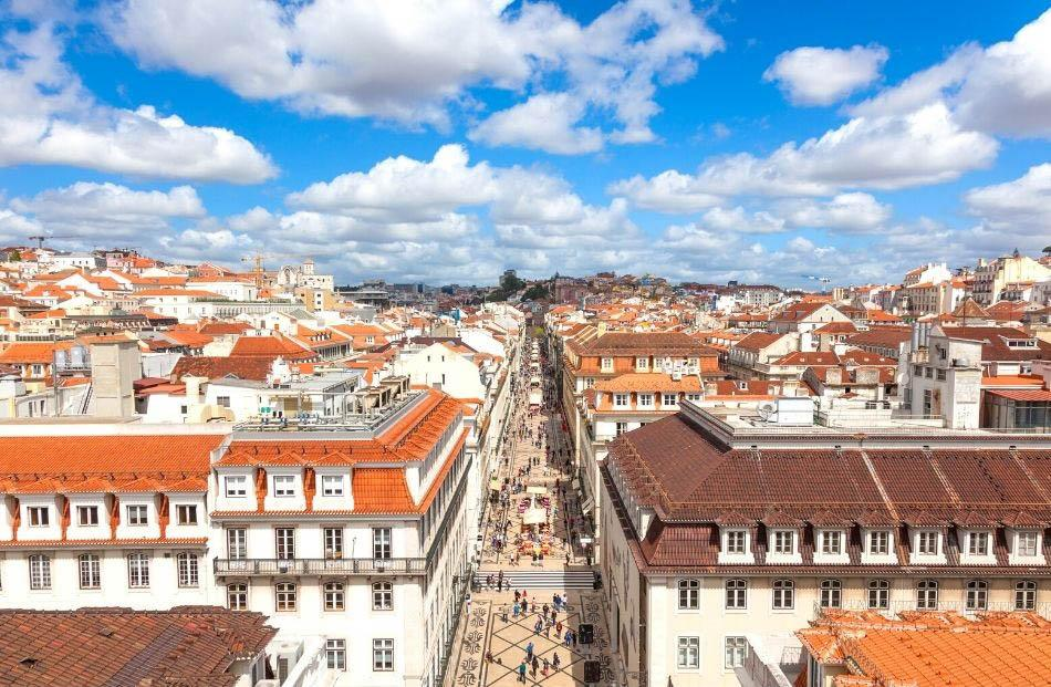 view from Arco da Rua Augusta Lisbon