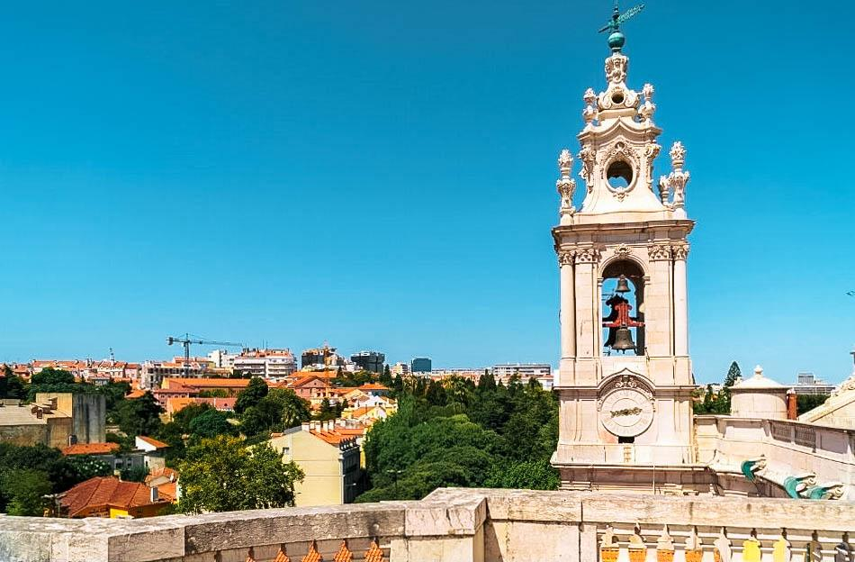 Estrela Basilica Rooftop viewpoint Lisbon
