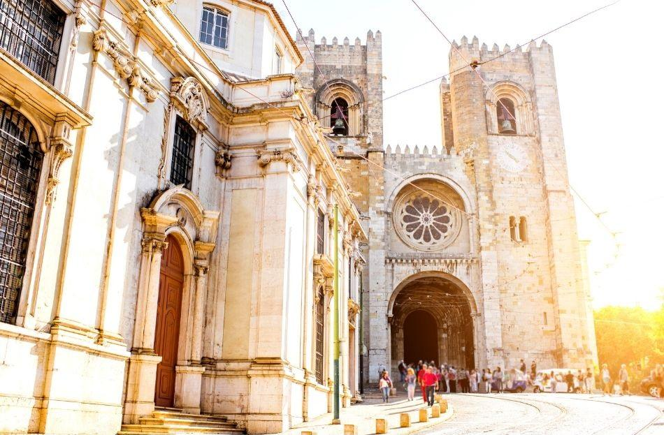Lisbon Cathedral at sunset - free things to do in Lisbon