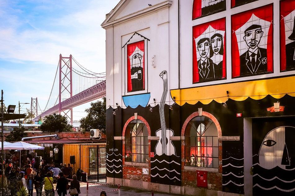 Lx Factory Lisbon street art - murals
