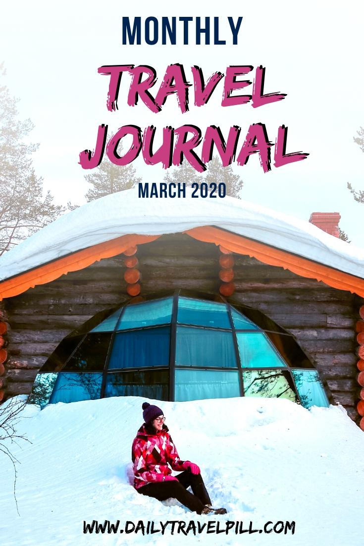Monthly travel journal March 2020