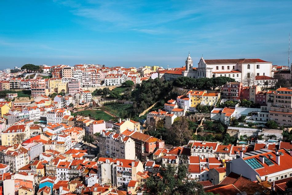 Lisbon view from Saint George Castle