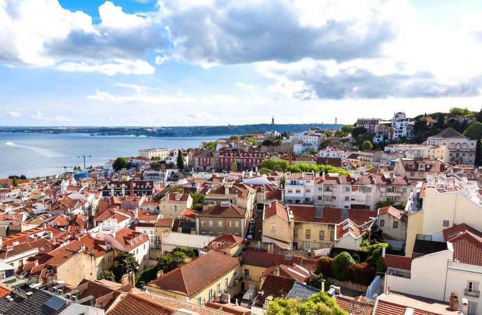 Sao Vicente de Fora Church rooftop view Lisbon