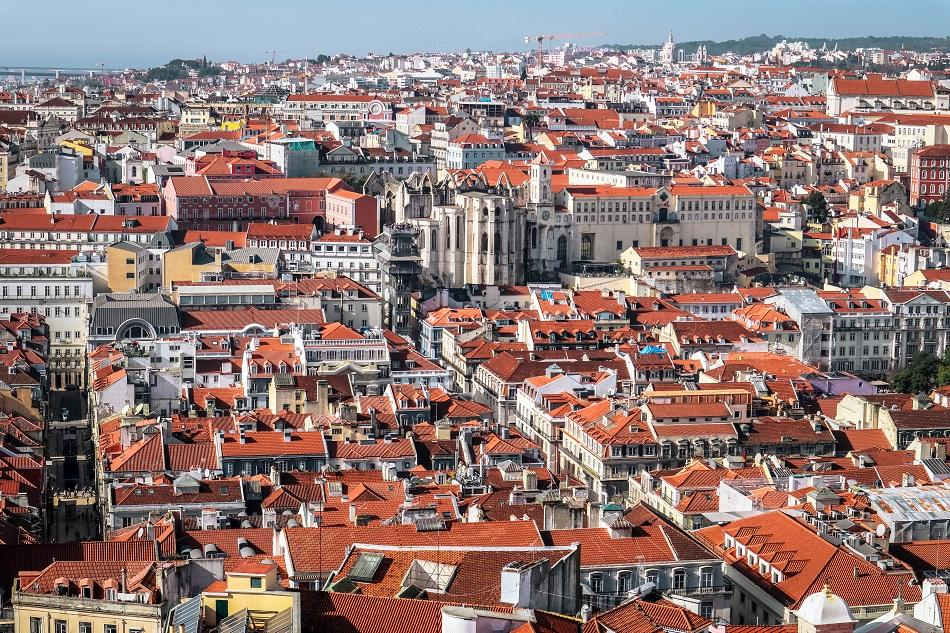 View from St George Castle in Lisbon