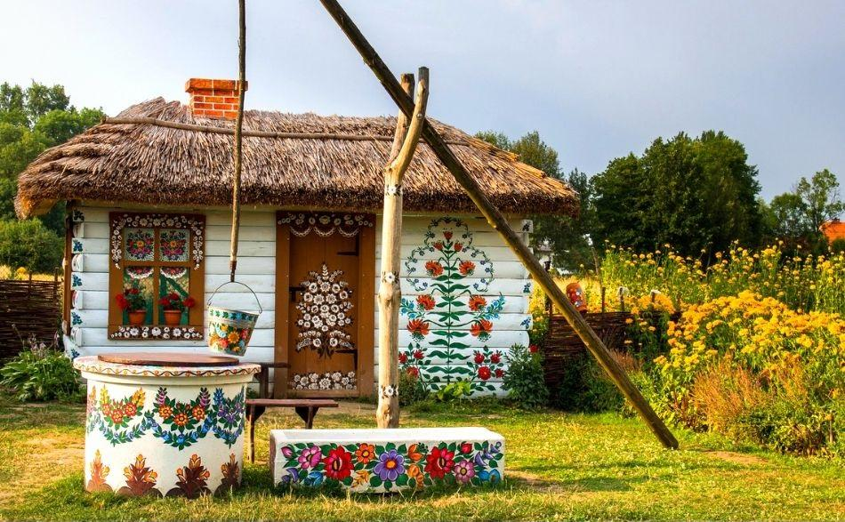 Zalipie painted house, Poland