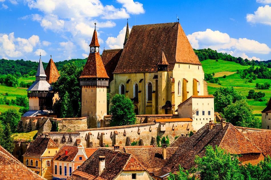Biertan village in Romania