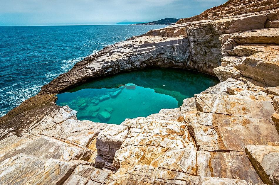 Giola Beach and Natural Pool, Thassos, Greece