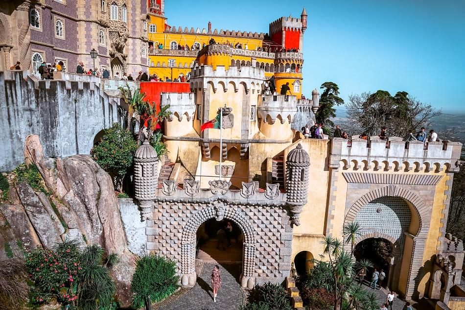 Entrance gate to Pena Palace, Sintra