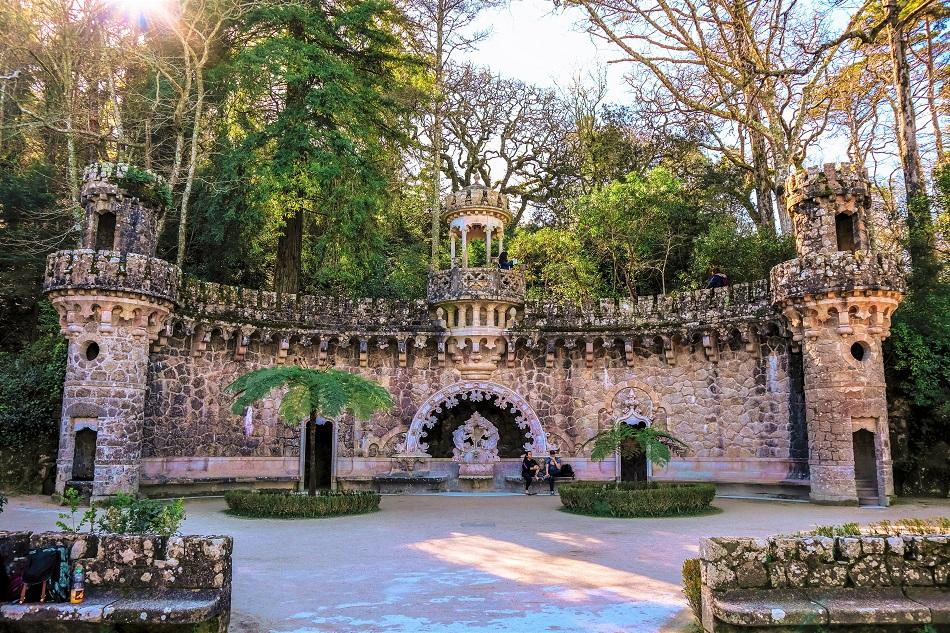 the gardens of Quinta de Regaleira, Portugal