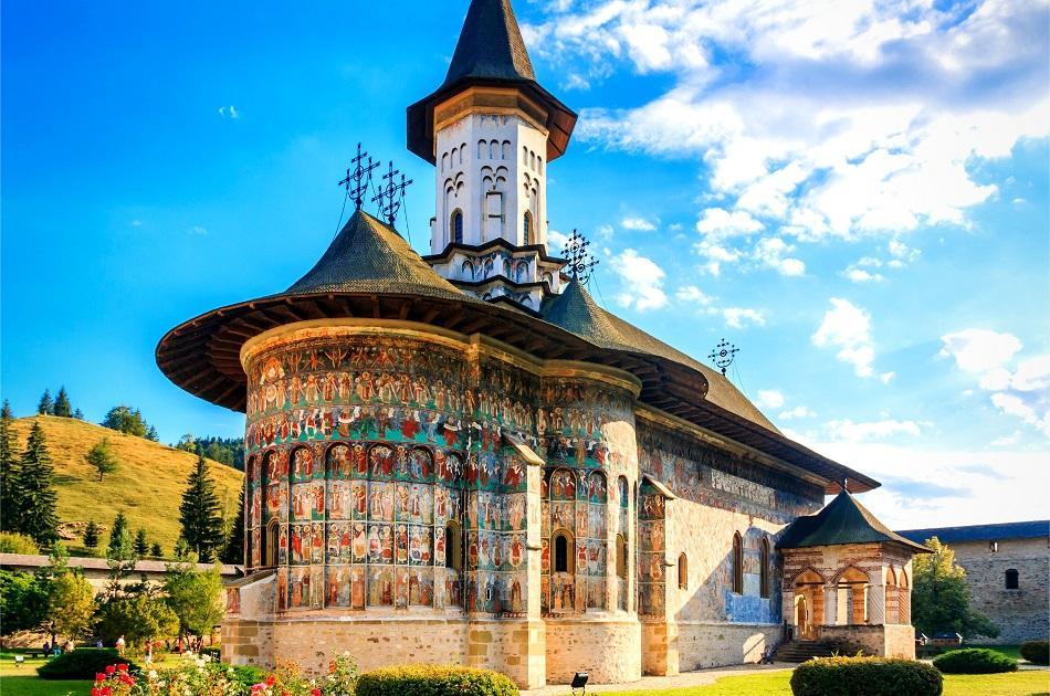 Sucevita monastery in Romania