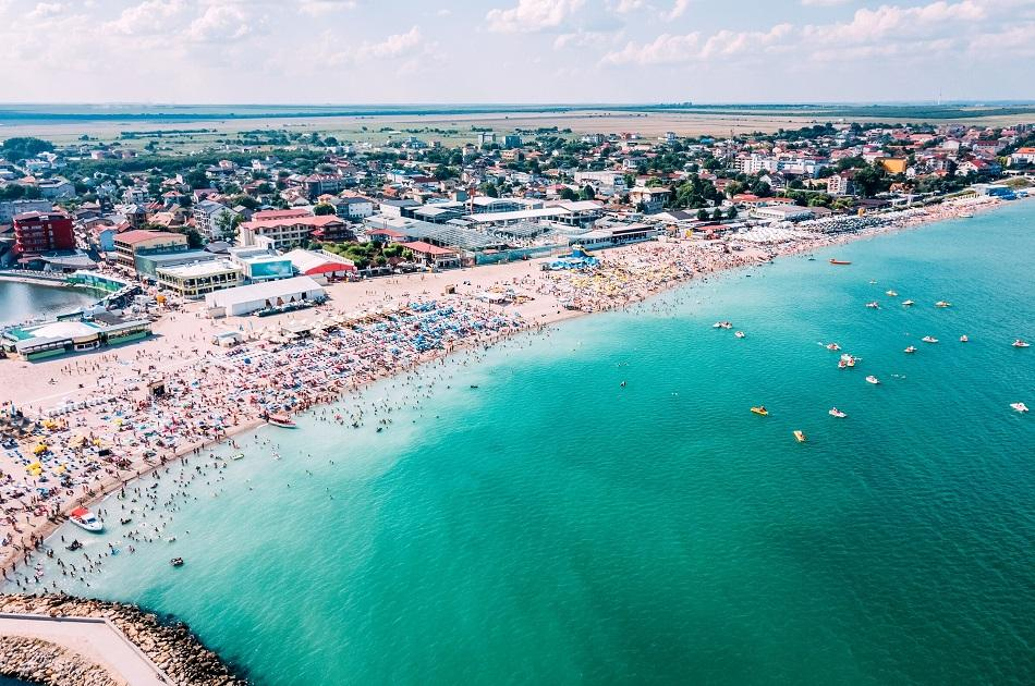 Costinesti Beach aerial view