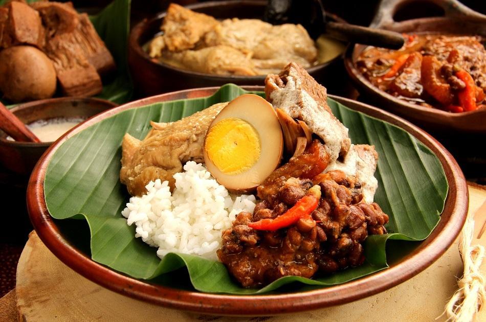 Gudeg traditional dish Java Indonesia