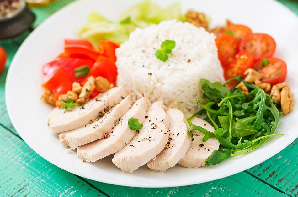 Haianese Chicken Rice Dish from Singapore