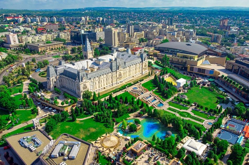 Palace of culture and park, Romania