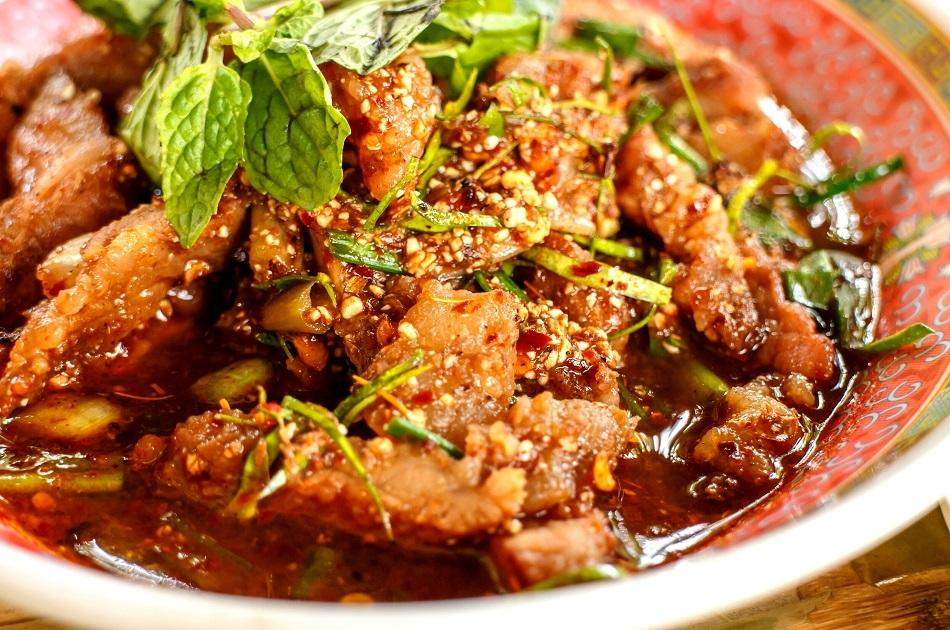 Larb traditional dish in Lao
