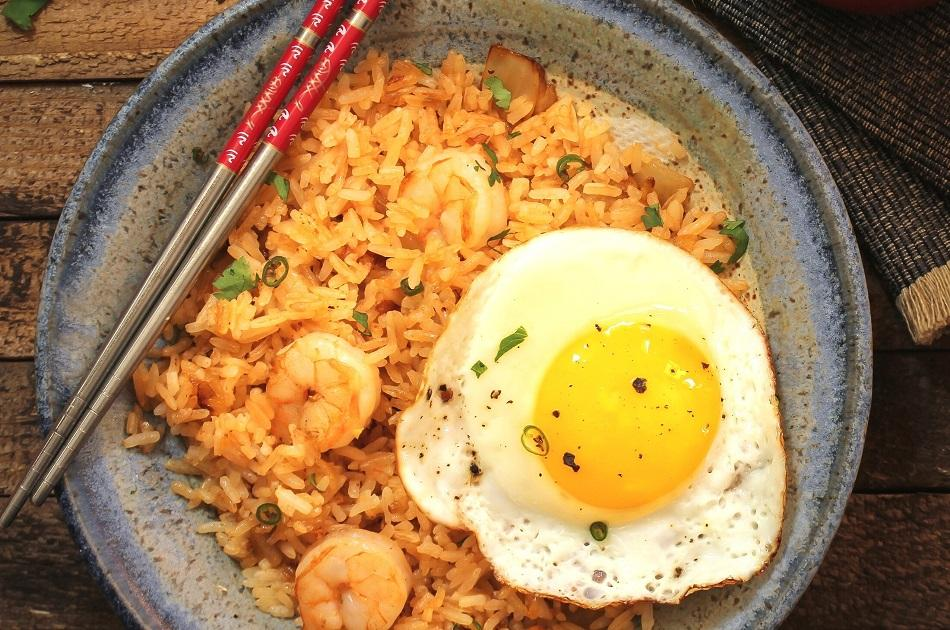 Nasi Goreng with egg traditional dish in Indonesia