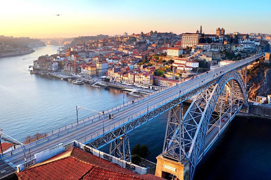 Porto Bridge at Sunset