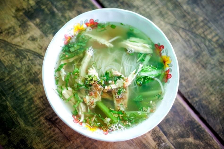Samlor Kako soup - traditional dish in Cambodia