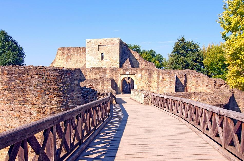 Suceava Fortress entrance