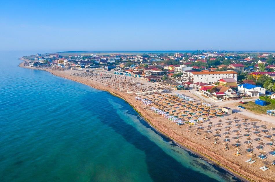 Vama Veche Beach Romania aerial view