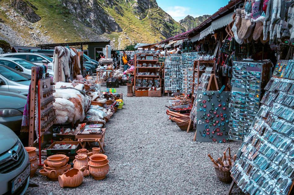Transfagarasan Highway Romania souvenir shops