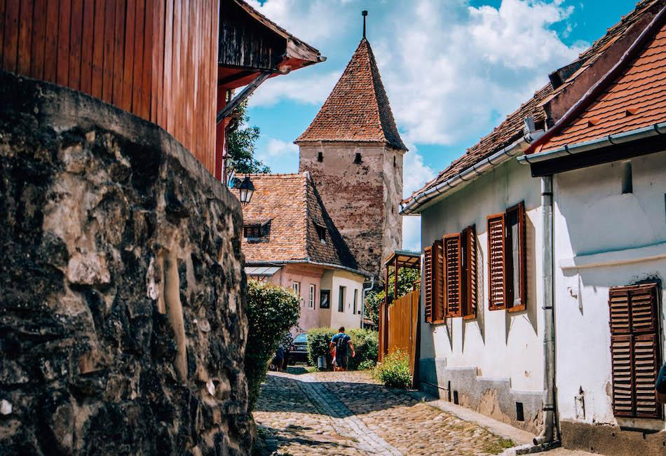 Butchers' Tower in Sighisoara Fortress Romania