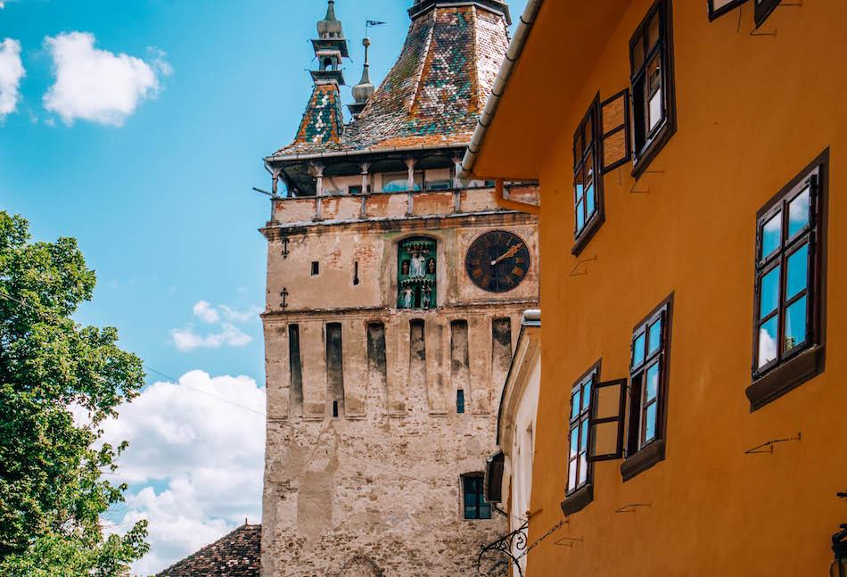 Clock Tower Sighisoara Fortress Romania