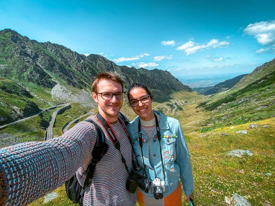 Aurelia Teslaru and Dan Moldovan at Transfagarasan Romania