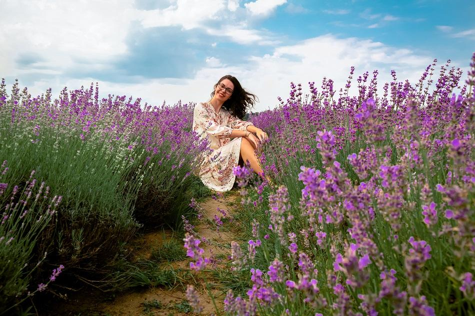 Aurelia Teslaru lavender fields