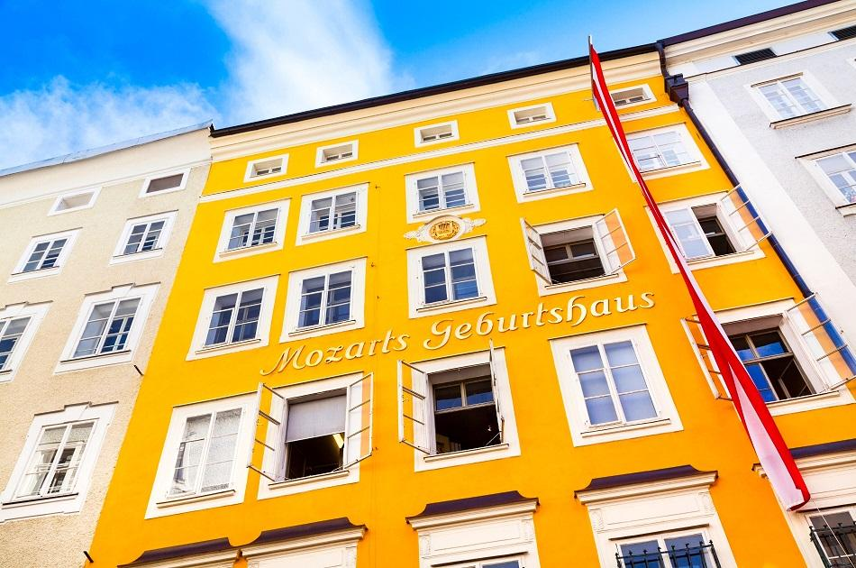 The birthplace of Mozart Museum in Salzburg