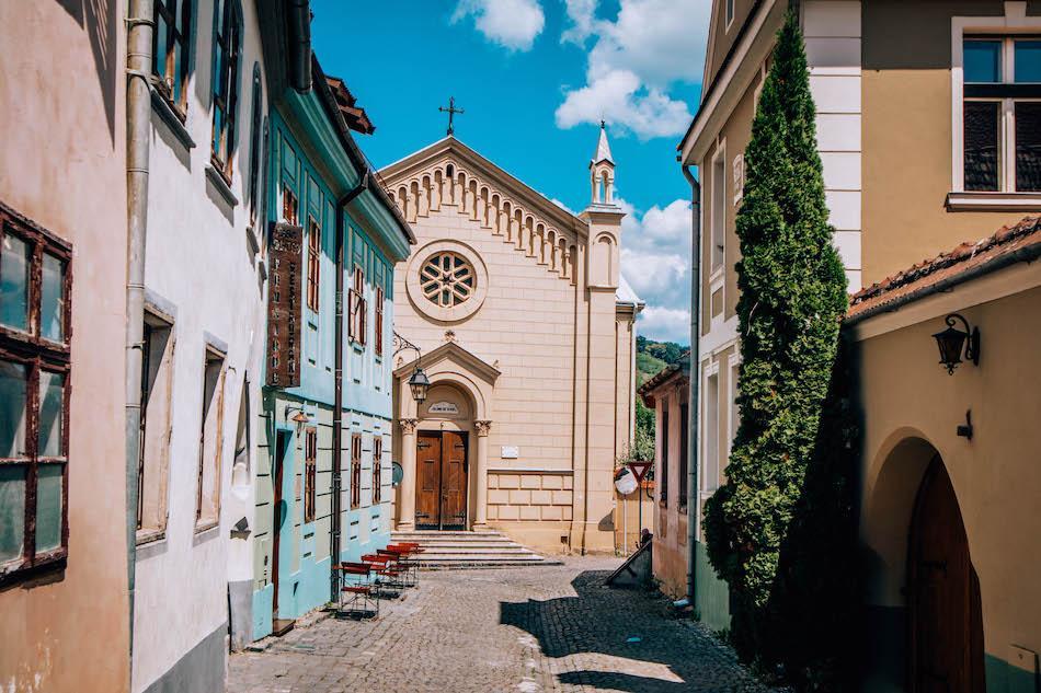 Saint Iosif Church in Sighisoara Fortress Romania