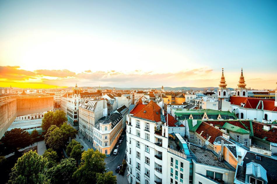 Sunset in Vienna