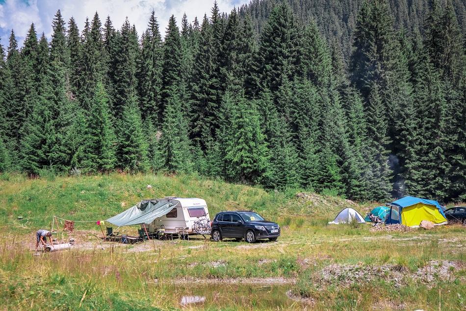 Camping at Transalpina Highway Romania