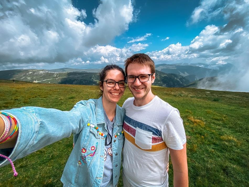 Aurelia Teslaru and Dan Moldovan at Transalpina Highway Romania