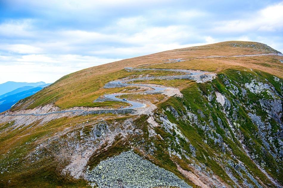 Transalpina Highway Romania drone view
