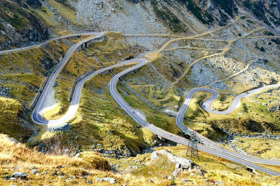 Transfagarasan Highway Romania hairpins