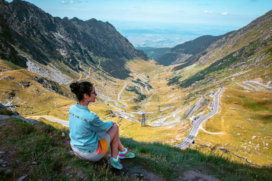 Aurelia Teslaru at Transfagarasan Highway Romania