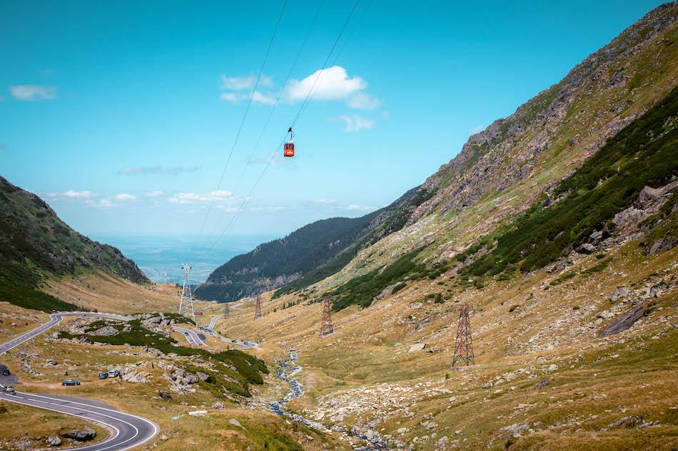 Transfagarasan Highway Romania cable car