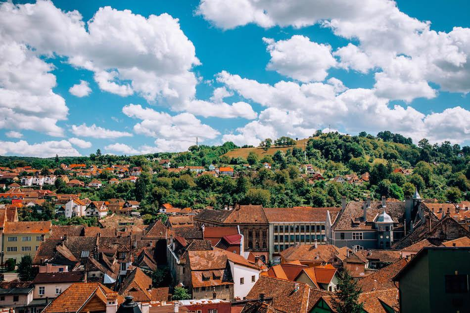 view of Sighisoara City Romania
