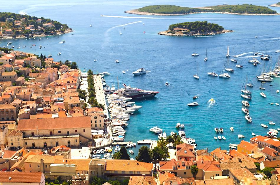 Hvar Island view from Fortress, Croatia