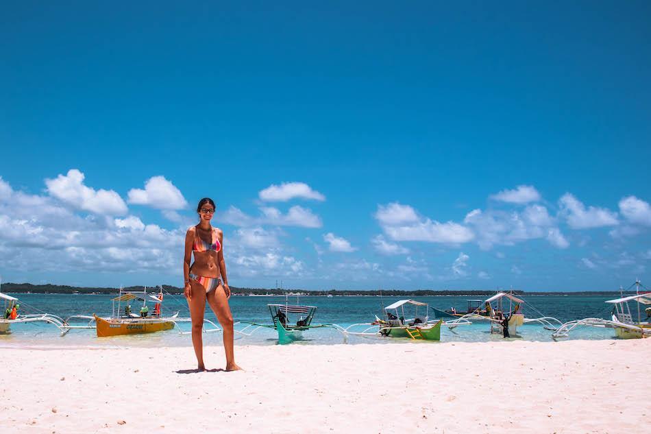 Aurelia Teslaru at Guyam Island, Siargao