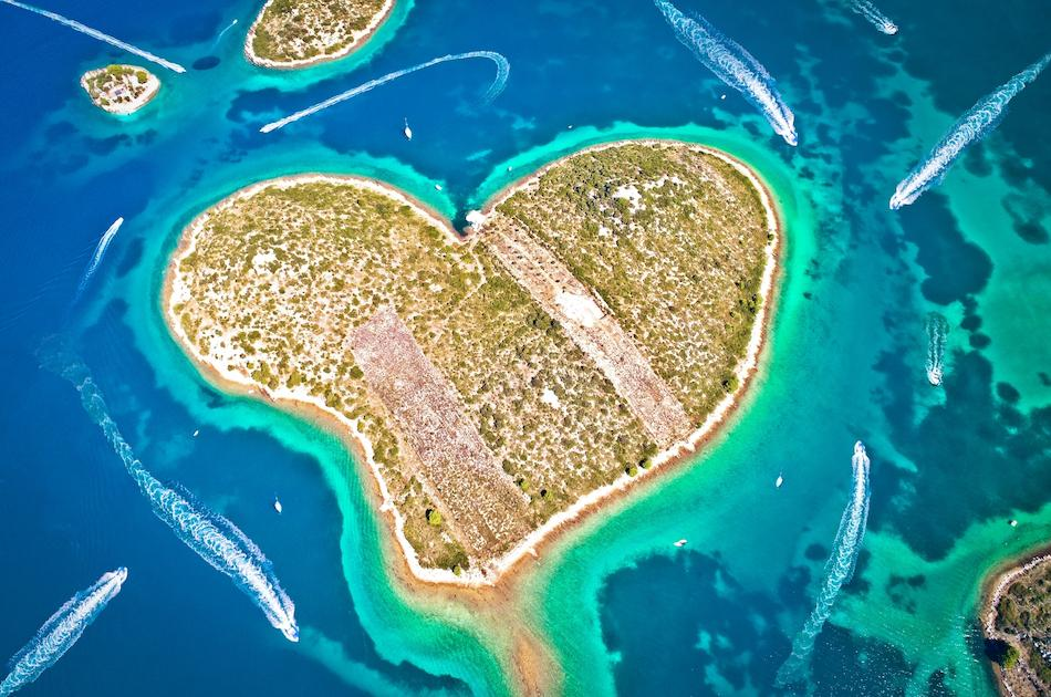 Heart Island in Croatia - Galesnjak
