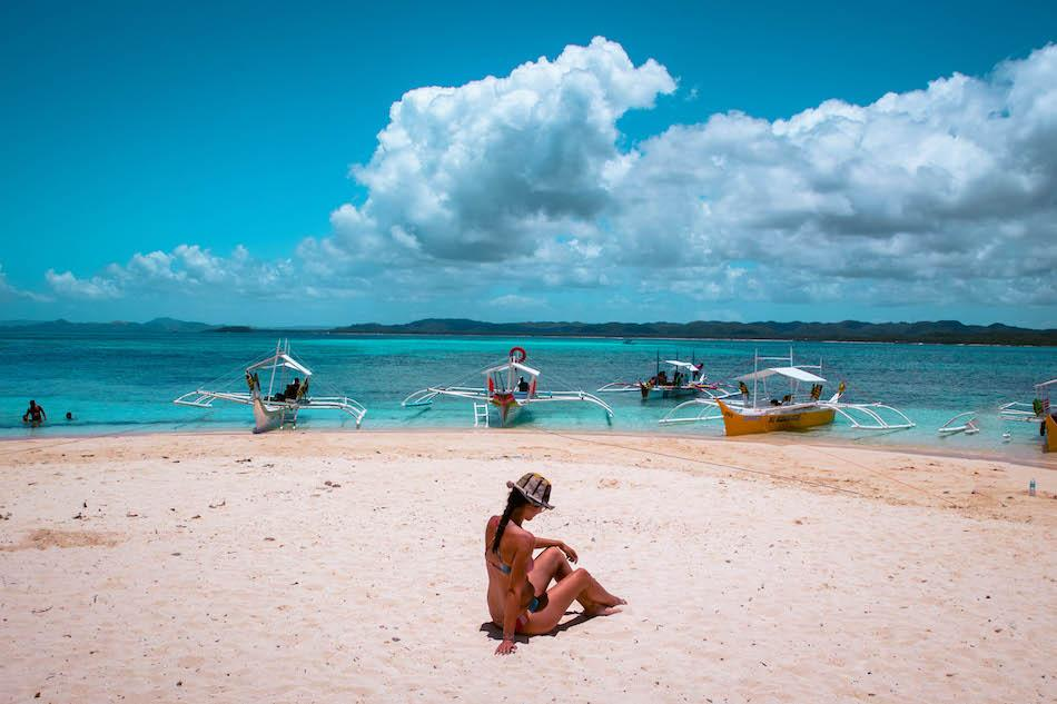 Aurelia Teslaru at Guyam Island Siargao