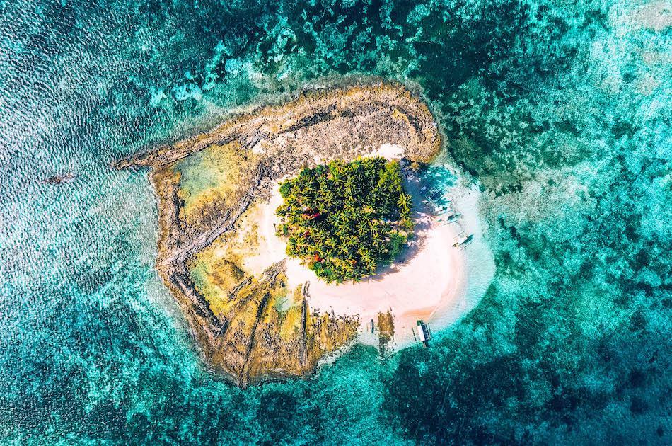 Guyam Island Siargao drone view