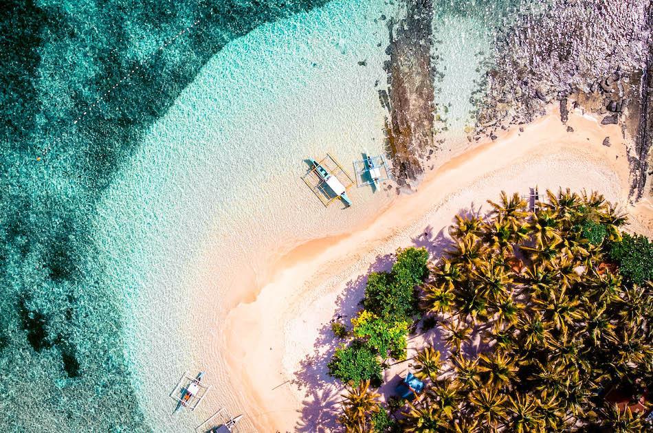 Giyam Island Siargao drone view