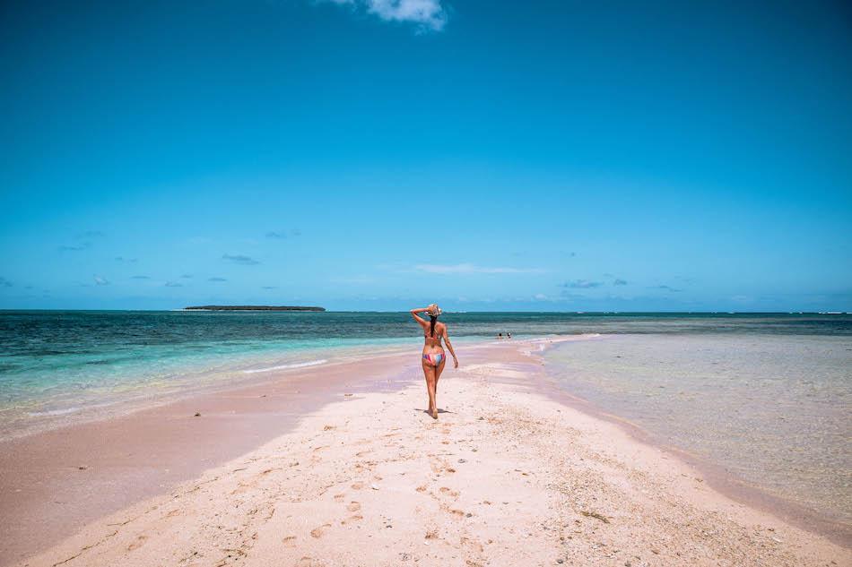 Aurelia Teslaru at Naked Island, Siargao. Siargao island hopping tour, Siargao island tour
