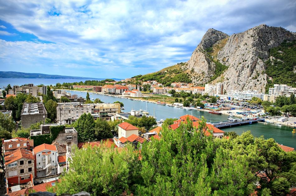 Omis Town Croatia view