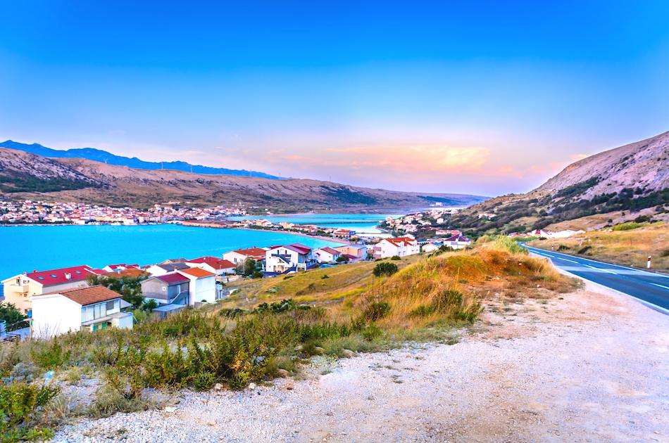 Pag Island Croatia at sunset